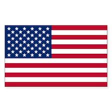USA World Flag Bumper Decal