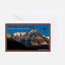 Chamonix Paragliders Greeting Card