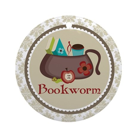Bookworm Reading Book Lover Ornament
