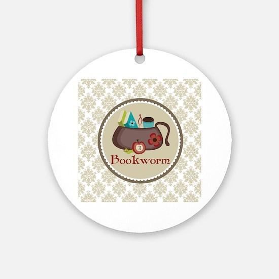 Bookworm Reading Book Lover Ornament
