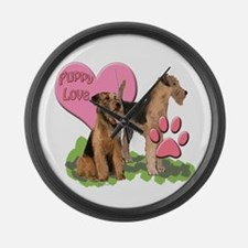 iredale terrier Puppy Love Large Wall Clock
