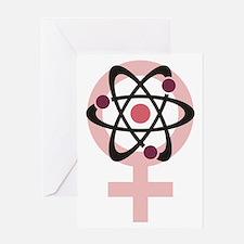 Female Scientist Greeting Card