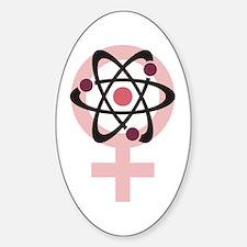 Female Scientist Decal