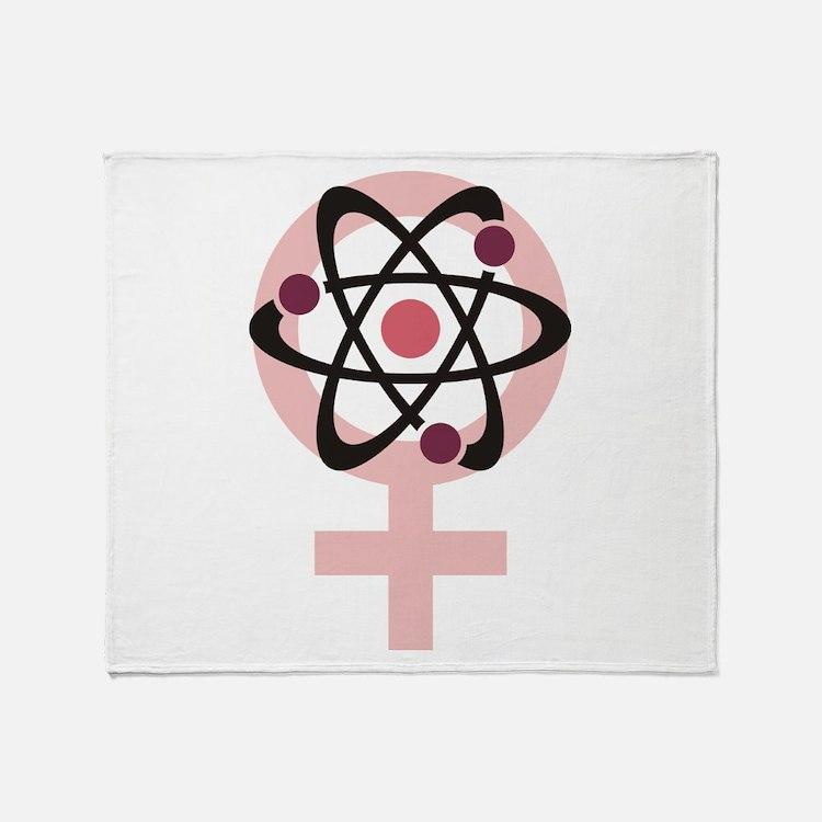 Female Scientist Throw Blanket
