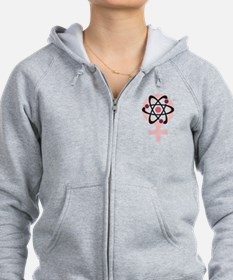 Female Scientist Zip Hoodie