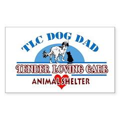 TLC Dog Dad Rectangle Decal
