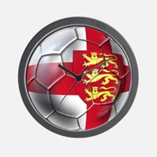 Three Lions Football Wall Clock