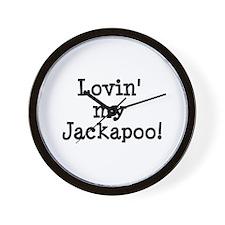 Lovin' My Jackapoo Wall Clock