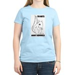 I'M NUTS ABOUT SQUIRRELS Women's Pink T-Shirt