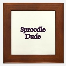 Sproodle Dude Framed Tile