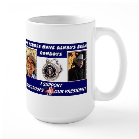 Cowboys Reagan/Bush Large Mug