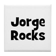 Jorge Rocks Tile Coaster
