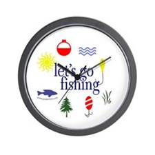Let's go fishing! Wall Clock
