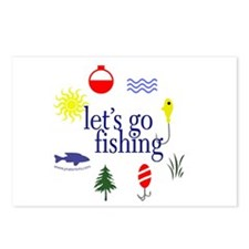 Let's go fishing! Postcards (Package of 8)