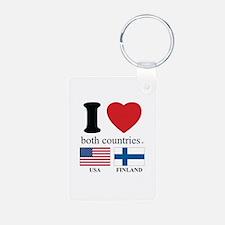 USA-FINLAND Keychains