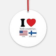 USA-FINLAND Ornament (Round)