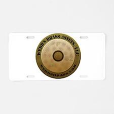 webbs logo Aluminum License Plate