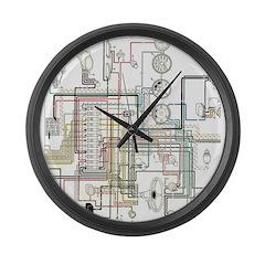 1960 Porsche Large Wall Clock