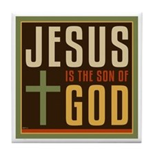 Jesus Is The Son of God Tile Coaster