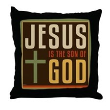 Jesus Is The Son of God Throw Pillow