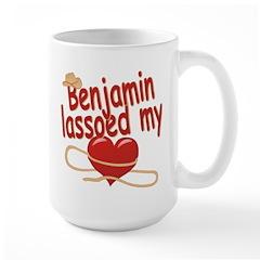 Benjamin Lassoed My Heart Large Mug