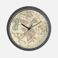 Vintage Astrology Map Wall Clock