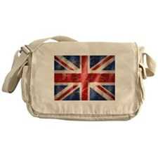Cute White and blue Messenger Bag