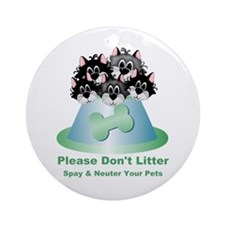 Neuter Litter Cats Ornament (Round)