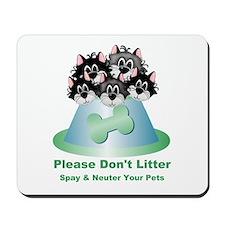 Neuter Litter Cats Mousepad
