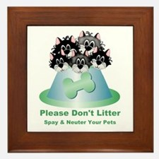 Neuter Litter Cats Framed Tile