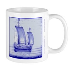 Blue Ship Tile: Mug