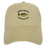 Chicks dig me fish fear me Classic Cap