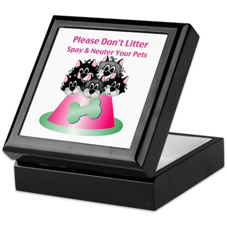 Neuter Litter Cats Keepsake Box