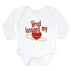 Brad Lassoed My Heart Long Sleeve Infant Bodysuit