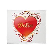 Delia Valentines Throw Blanket