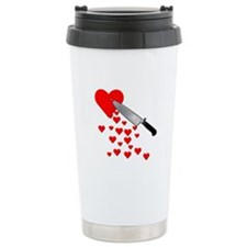 Lacerated Heart Anti-Valentines Day Travel Mug