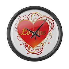 Lorene Valentines Large Wall Clock