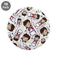 "Cute Jesus Christ 3.5"" Button (10 Pk)"