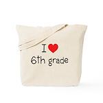 I Heart 6th Grade Tote Bag