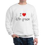 I Heart 6th Grade Sweatshirt
