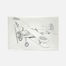 Stearman PT-17 Bi-Plane Rectangle Magnet