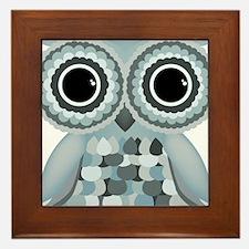 Little Blue Owl Framed Tile