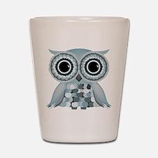 Little Blue Owl Shot Glass