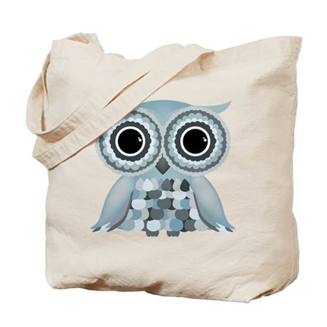 Little Blue Owl Tote Bag