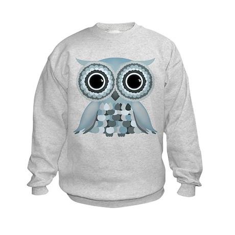 Little Blue Owl Kids Sweatshirt