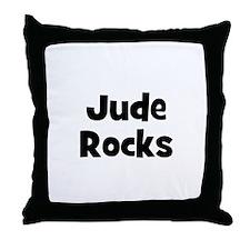 Jude Rocks Throw Pillow