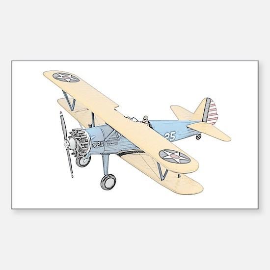 Stearman PT-17 Bi-Plane Sticker (Rectangle)