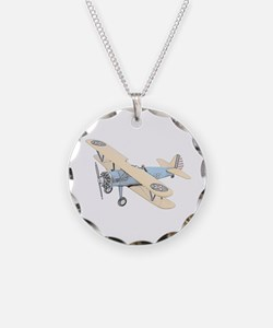 Stearman PT-17 Bi-Plane Necklace
