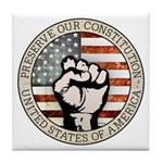 Preserve Our Constitution Tile Coaster
