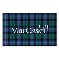 Tartan - MacCaskill Sticker (Rectangle)